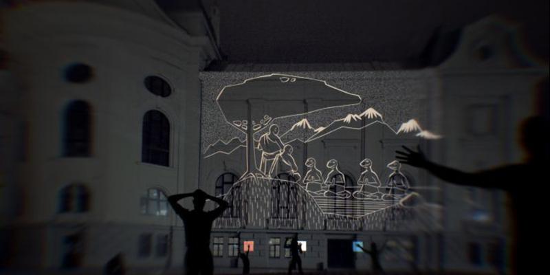 """Gaismas festivāls """"Staro Rīga' 2019"""" Latvijas Nacionālajā mākslas muzejā"""
