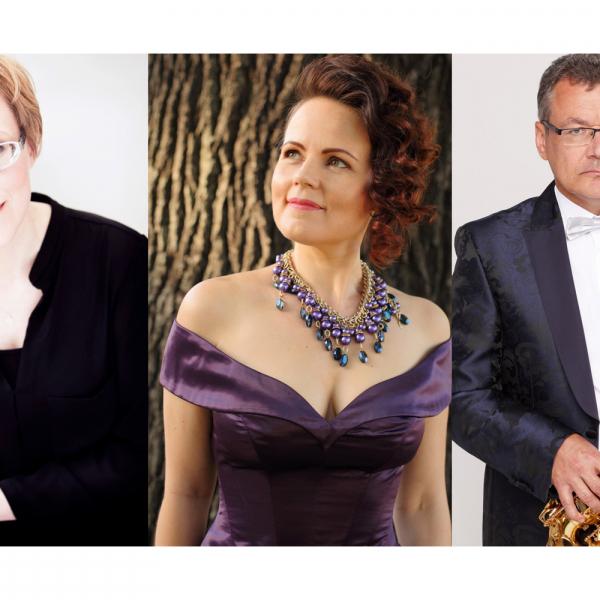 """Kristīne Adamaite, Artis Sīmanis un Inga Šļubovska-Kancēviča XVIII Liepājas ērģeļmūzikas festivāla noslēguma koncertā """"Tālajā dārzā"""""""