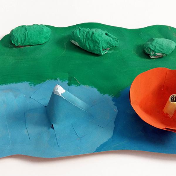"""Mākslinieces Ilzes Aulmanes radošā darbnīca bērniem Kultūras pilī """"Ziemeļblāzma"""""""
