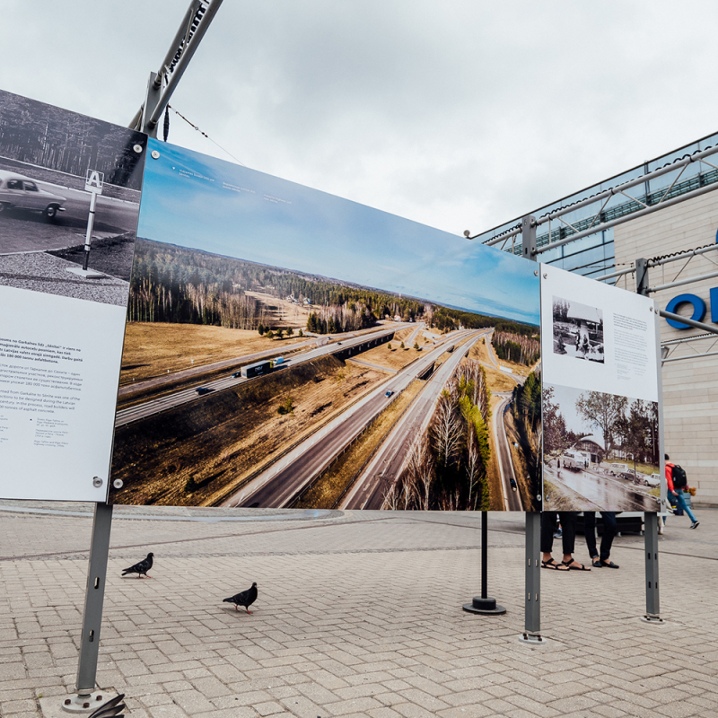 Rīgā atklāta ceļu nozares administrācijas simtgadei veltīta izstāde. FOTO