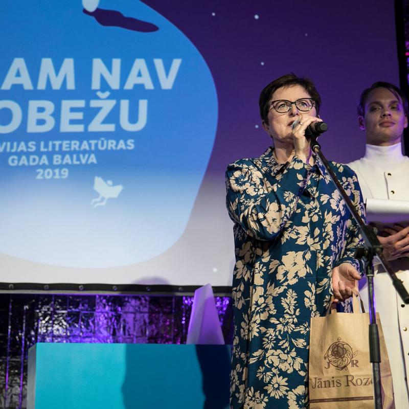 Ieskats Latvijas Literatūras gada balvas pasniegšanas ceremonijā. FOTO