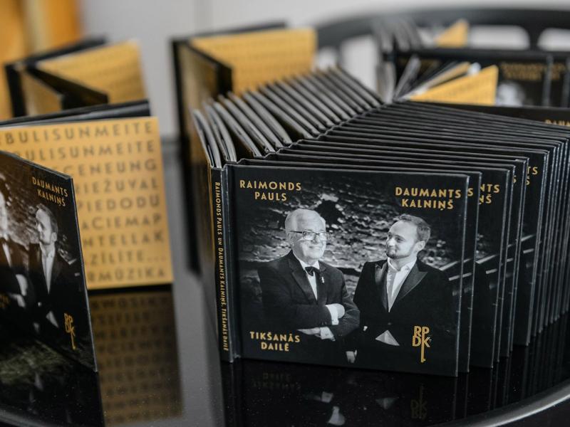 """""""Raimonds Pauls un Daumants Kalniņš. Tikšanās dailē."""" FOTO"""