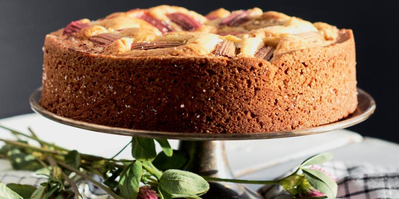Pašgatavots Jāņu siers un rabarberu kūka līgotājiem