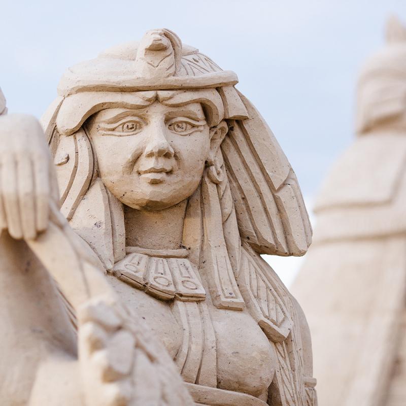 Baltijā lielākais smilšu skulptūru parks apmeklētājiem būs atvērts arī vasarā. FOTO