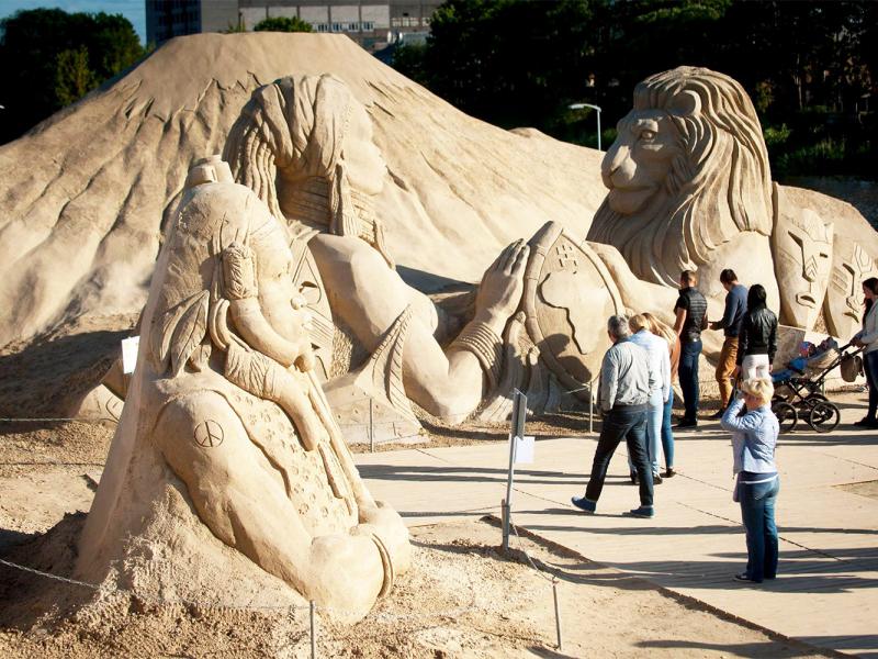 Smilšu skulptūru festivāls šogad pulcēs īpaši atzītus tēlniekus