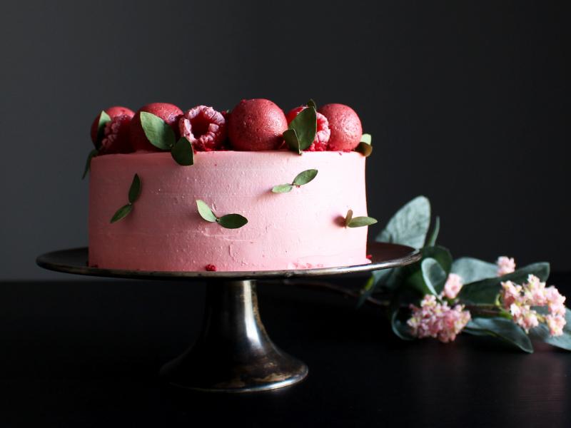 Vieglā sarkanā samta kūka Valentīndienā!