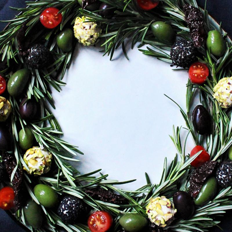 Ēdamais Ziemassvētku vainags